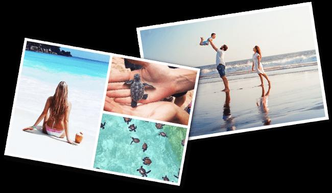 Individuell gestaltete Postkarten aus dem Urlaub mit der Reiseapp erstellt