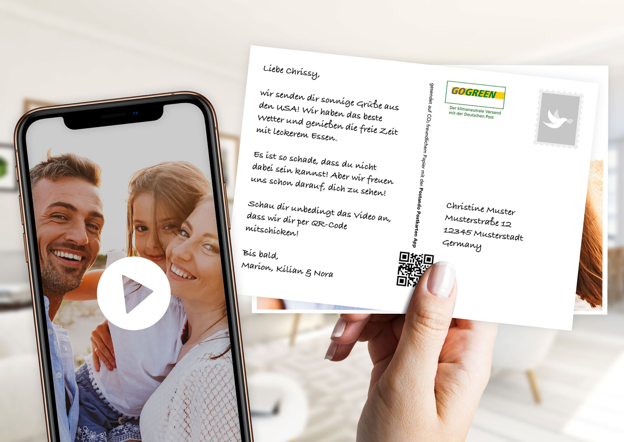 Postando: Die Postkarte mit Videobotschaft