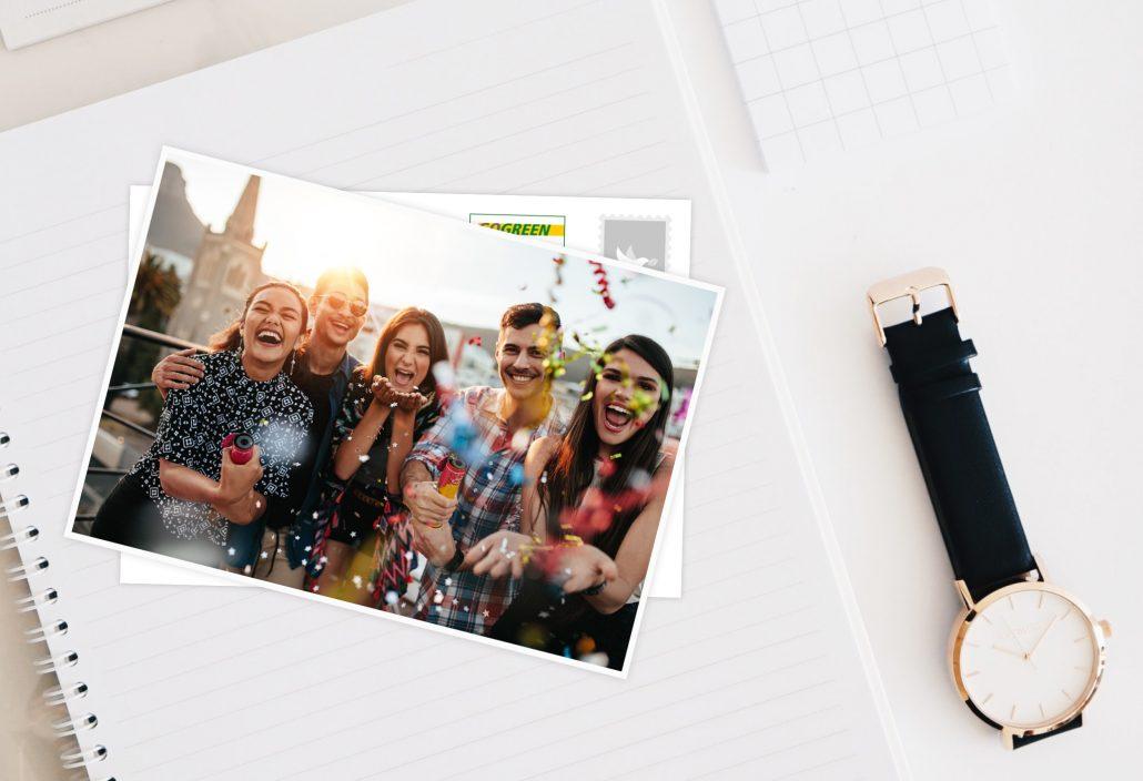 Postkarten App Postkarte mit Motiv Freunden