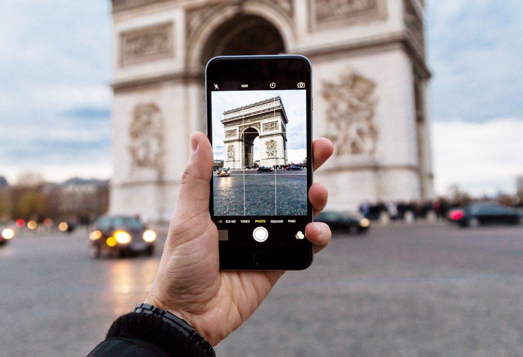 Die Komposition eines Smartphone Fotos