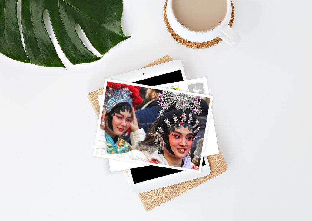Postkarten selber gestalten mit Karnevalsmotiv