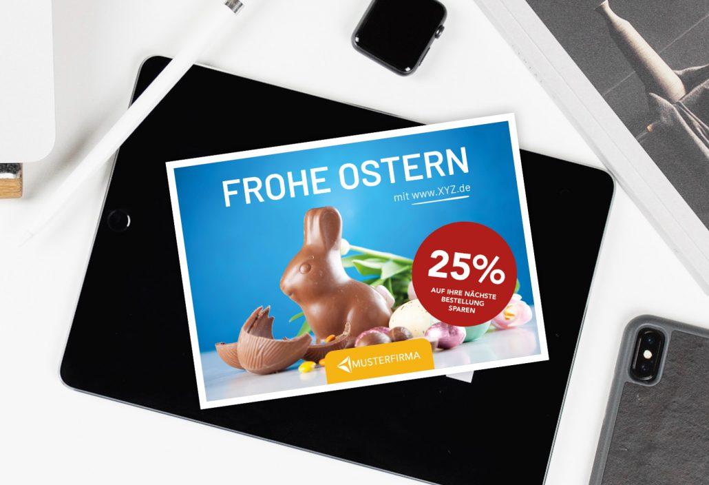 Postcard marketing for Easter