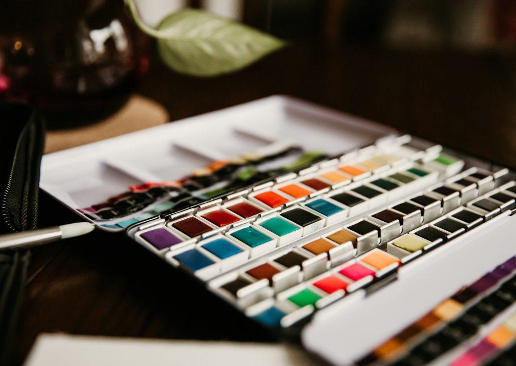 Grußkarten selbst bemalen mit Aquarellfarben