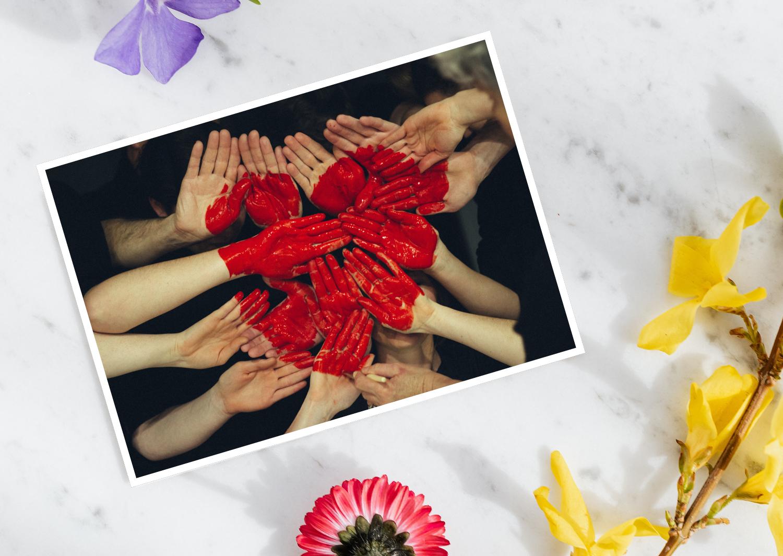 Liebespostkarten schreiben