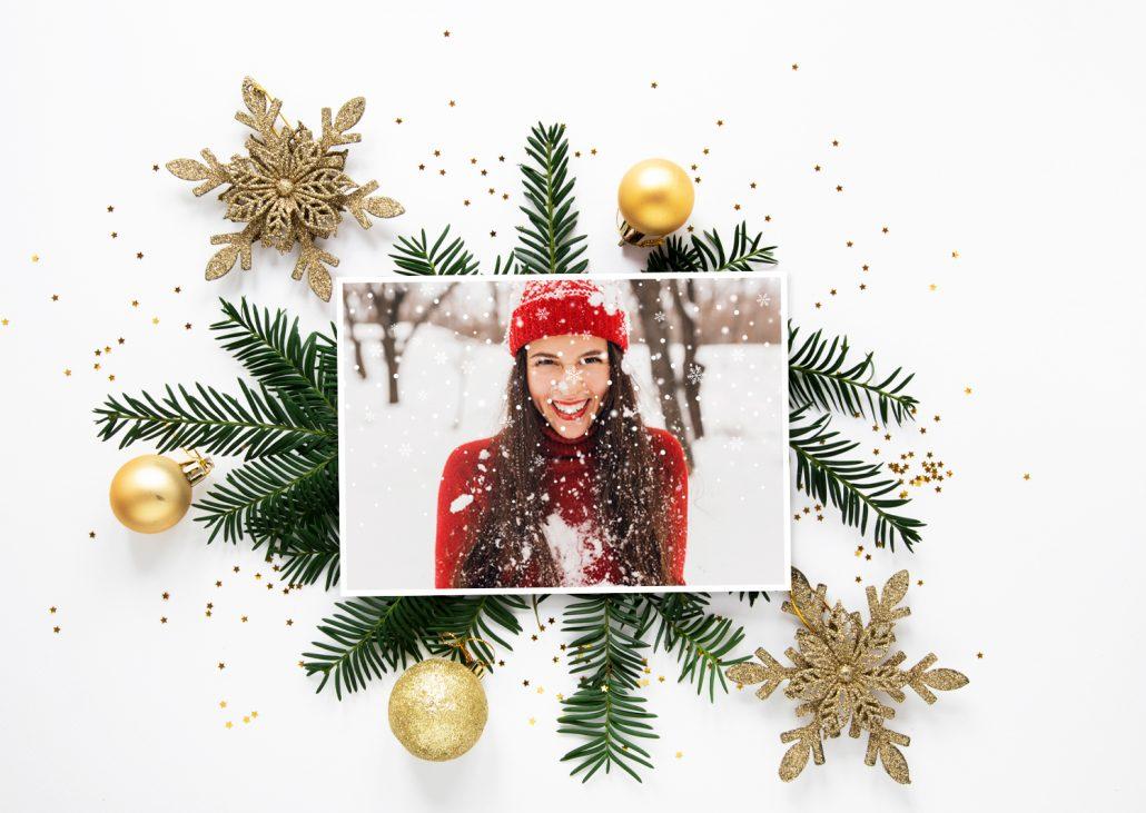 online gestaltete Weihnachtskarte